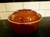 Large Terracota Stoneware Casserole Dish. Brand New condition unused