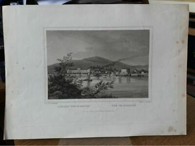 View Of Biebrich. Vue De Biebrich. Original Steel Engraving Approx. 1850