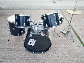 CB Drum kit and adjustable microphone stand (incomplete)
