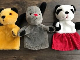 Sooty, Sweep and Soo puppets