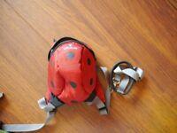 Little Life Toddler Child backpack bag rucksack – Ladybird, VGC, handle & reins