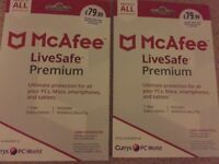 Mcafee 1yr protection
