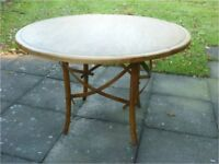 Dining or conservatory table – unusual quirky design. An old piece to be admired.