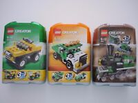 3x Lego Creator sets. Rare items -3 in 1 compact sets