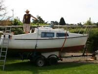 Dockrell 22' GRP sailing boat with mooring **Project**