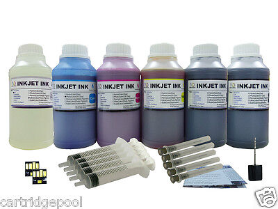 HP 6x250ml/s Refill Ink Kit For Kodak 10 :easyshare 5100 ...