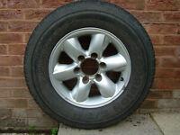 Nissan Terrano Alloy Wheel + Pirelli Scorpion M+S Tyre 235/70 R16