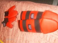 MARTAIL ART UK ENGLAND LEG AND HAND PADS,USED BUT IN GOOD CONDITION..