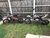 2x M2R Pit Bike