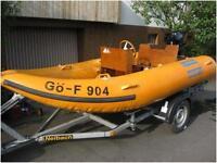 !! Schlauchboot, 45 PS Mercury Motor, Steuerstand, Trailer !! Hessen - Melsungen Vorschau