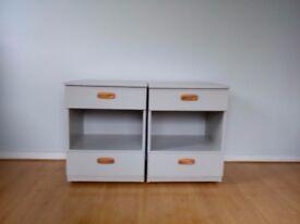 Two Schreiber vintage bedside cabinets