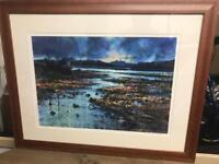 The Cuillin from Portree - Framed Ltd Edit Signed Print 2/85