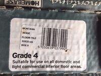 Montana beige ceramic floor tiles. 34 boxes