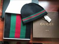 Gucci Hat and Scarf