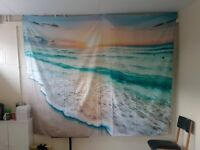 Beach Scene Wall Tapestry, Wall Drape, Wall Hanging