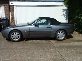 Porsche 944S2 Cabriolet. Metallic grey with linen leather. 1990H, 106,000 miles, MoT May 2018