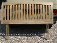 solid oak king size headboard see photographs