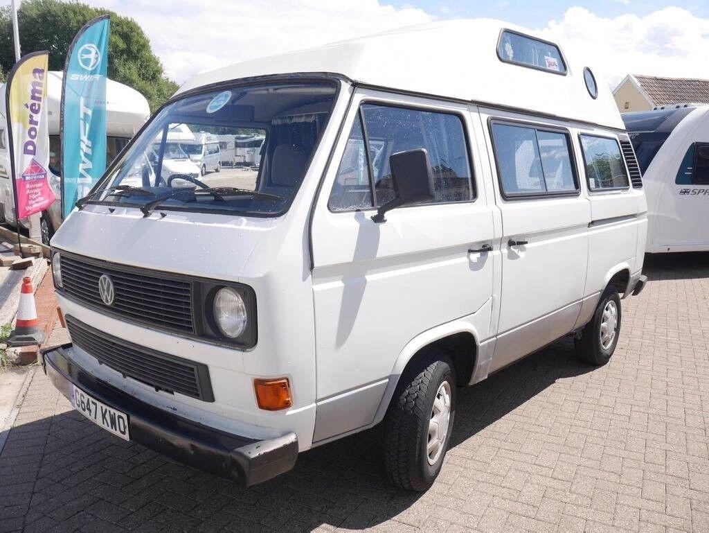 11eff4f0d9 1989 VW T25 1.9 Petrol camper van 4 berth new MOT and service