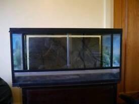 Full reptile setup, vivariums, heat mats thermostats, snakes or lizards