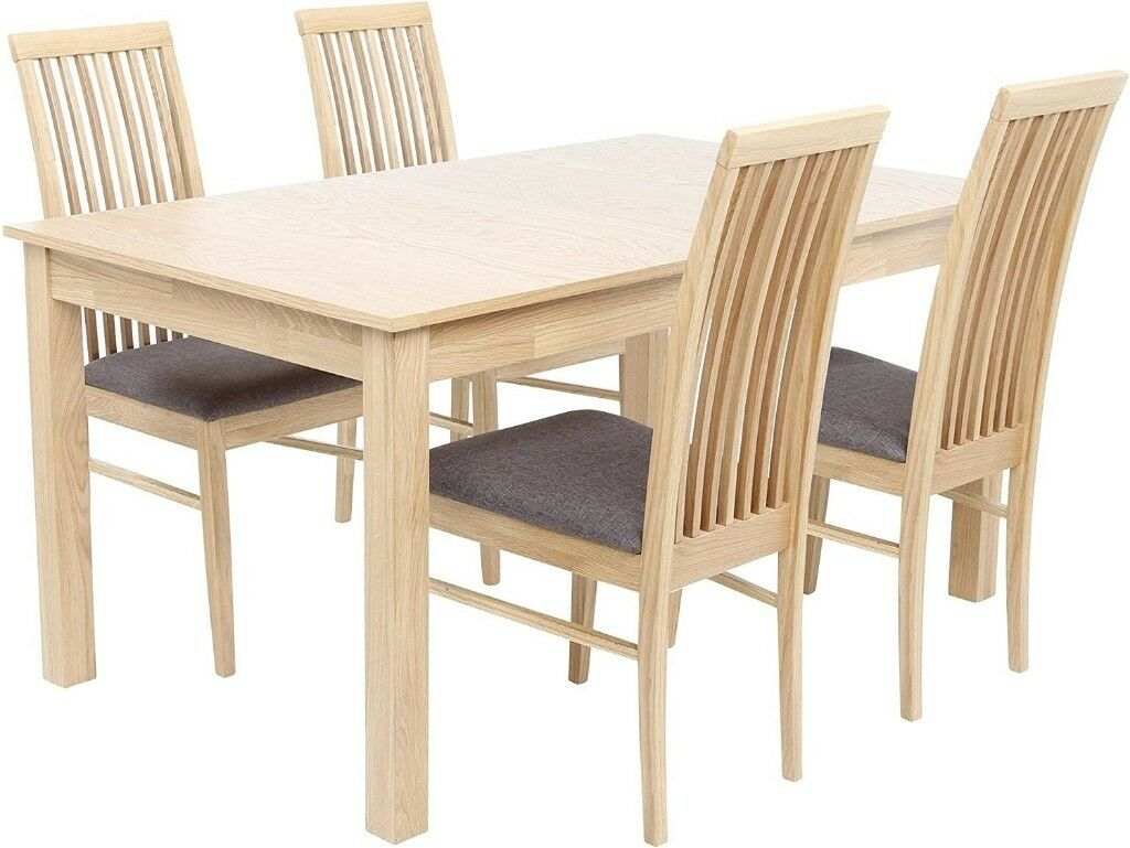 Brand New Tesco Brooklyn 4 6 Seat Extending Dining Table Only