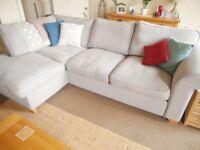 DFS light grey corner sofa