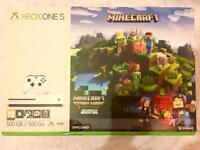 XBOX ONE S 500GB MINE CRAFT COMPLETE EDITION BRAND NEW