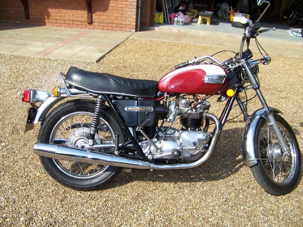 1975 Triumph 750 T140 Bonneville Uk Bike Matching Numbers In
