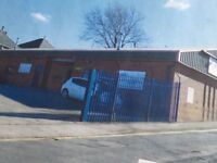 A1 retail warehouse and storage unit with own car park in a secure gated compound.