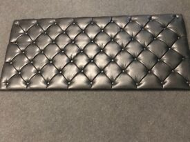 Headboard, black faux leather, king size bed