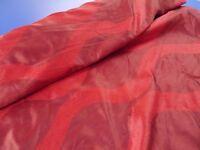 Bright red chiffon fabric