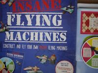 Flying machines board and construction game