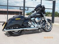 HARLEY FLHX STREET GLIDE,2014,RUSHMORE MODEL,1900 MILES,AS NEW
