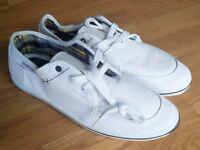 NEW Firetrap Mens White Canvas Shoes Trainers Size UK 8 / EU 42
