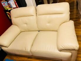 Decent creamish white sofa for sale. Good condition!