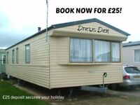 BOOK NOW FOR £25: DREWS DEN: GOLDEN GATE, TOWYN: SLEEPS 6 MAX, DOG-FRIENDLY