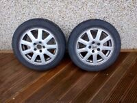 """Ford mondeo mk3 16"""" alloy wheels with winter tyres fitted"""