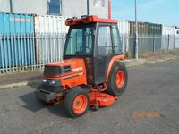 KUBOTA ST30 COMPACT TRACTOR,HEATED CAB,60in MID DECK,NO VAT