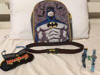 Batman bag, sunglasses, watch and belt