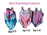 Bundle of girls swimming costumes age 8-10