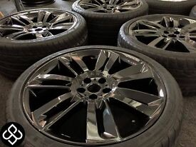 """20"""" GENUINE JAGUAR XF XK SUPERCHARGED ALLOY WHEELS WITH DUNLOP TYRES"""