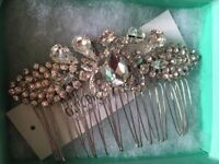 Bridal hair slide brand new