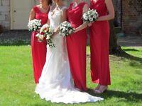 Bridesmaid dress: red / cerise size 12