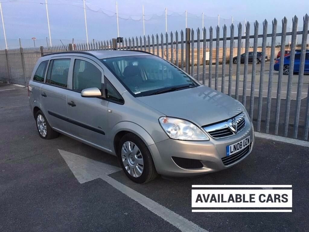2008 Vauxhall Zafira 1,6 litre 5dr 7 seater