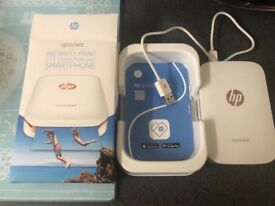 HP Sprocket white & rose gold. With extras! Hardly used, immaculate.