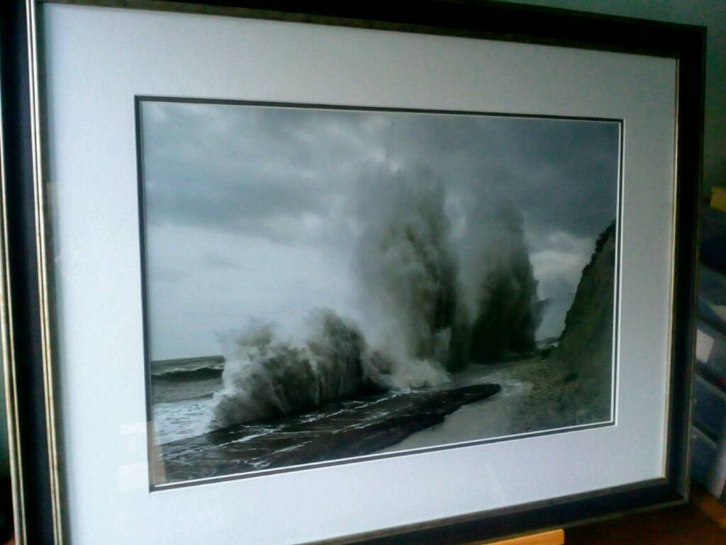 "Framed seascape picture. Original photographic print 24x16"""