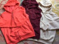 3 Brand new zipped hoodies