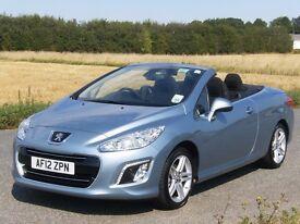 Peugeot 308CC, 2012, 1.6 Diesel, 6 Speed Manual. 112 FAP. 134,000 Miles.