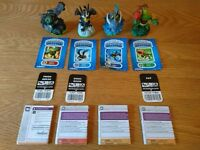 Skylanders Spyros Adventure Figures Prism Break, Sonic Boom, Zap And Zook As New Condition £3 Each