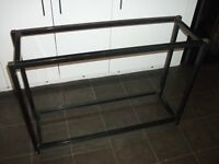 Black metal 2 tier fish tank stand 3ft wide