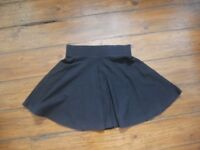 Airy Black Skirt